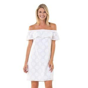 NWOT SAIL TO SABLE WHITE dress off shoulder